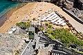Lift cabin and stairway leading to Playa Abama on Tenerife, Spain (48225285816).jpg