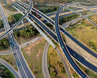 Stack interchange - The Light Horse Interchange in Sydney is the largest in the southern hemisphere.