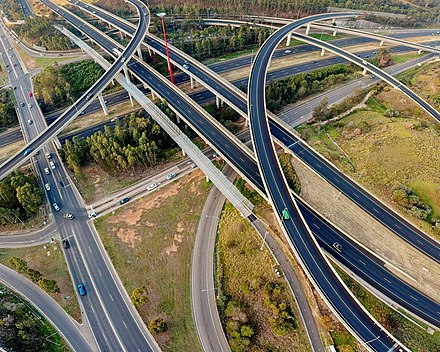 Light Horse Interchange, the largest of its kind in Australia Light Horse Interchange (aerial view).jpg