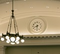 Light fixture and clock, Edward T. Gignoux U.S. Courthouse, Portland, Maine LCCN2014630007.tif