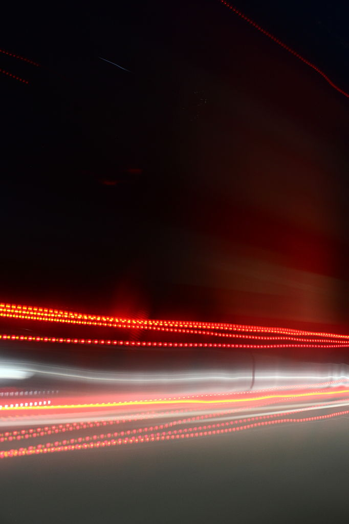 Car Tail Lights >> File:Light trails from car window.jpg - Wikimedia Commons