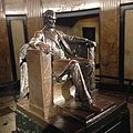 Lincoln's Tomb, interior, Springfield, IL (sculpture of Lincoln).jpg