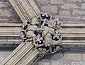 Lincoln Cathedral, Angel Choir N aisle, Roof Boss 9th from E (24742026807).jpg