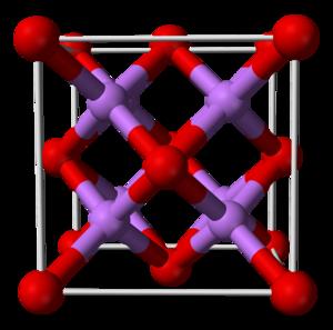 Lithium oxide - Image: Lithium oxide unit cell 3D balls B