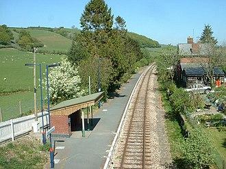 Llanbister Road railway station - Image: Llanbister Rd Station