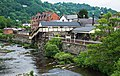 Llangollen railway station from the River Dee bridge.jpg