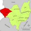 Localització de Vilafranca respecte de l'Alt Maestrat.png