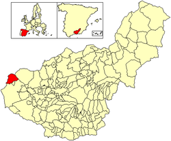 Location of Algarinejo