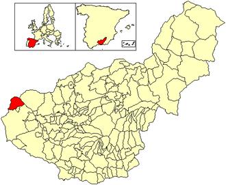 Algarinejo - Image: Location Algarinejo