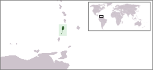 United Nations Security Council Resolution 464 - Location of Saint Vincent and the Grenadines