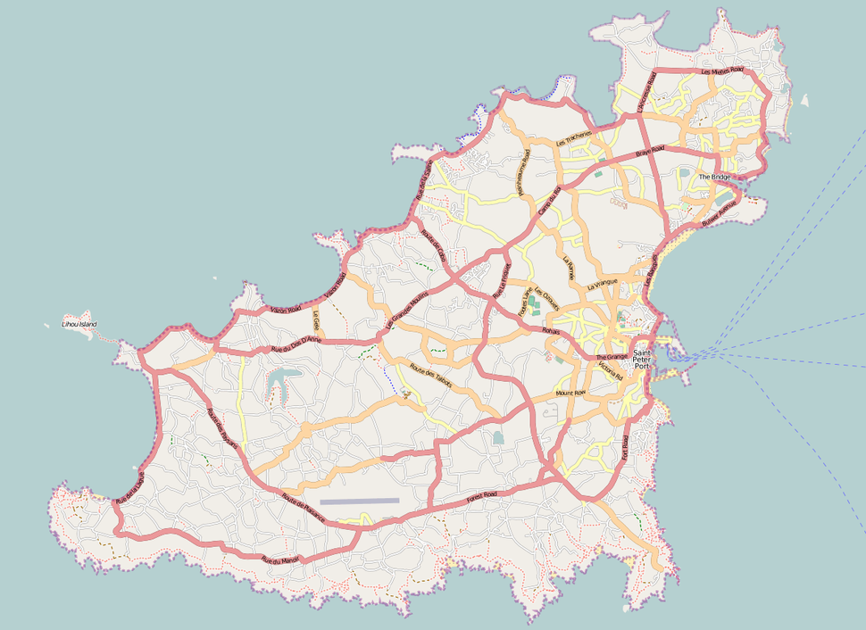 Location map Guernsey
