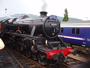 West Coast Railways - 45231 ''The Sherwood Forester'' at Fort William after hauling The Jacobite from Mallaig, this is a regular service run by West Coast Railways from early May till late October.