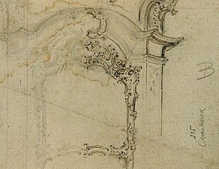 Fragment of a fireplace