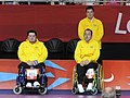 London 2012 - Dirceu Jose Pinto and Eliseu do Santos of Brazil - gold pairs BC4 boccia.JPG