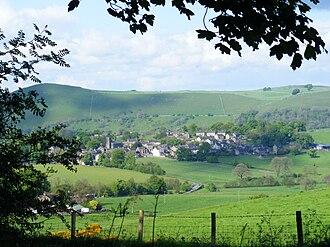 Longnor, Staffordshire - Longnor village from the south-west