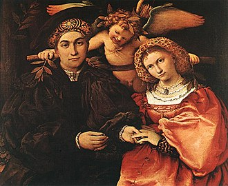 1532 in art - Lotto – Messer Marsilio and his Wife, Museo del Prado