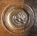 Lorenzo ghiberti e aiuti, porta nord del battistero di firenze, retro con teste leonine, 06.JPG