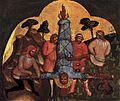 Lorenzo veneziano, crocifissione di san pietro.jpg