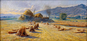 Lorus Pratt - Harvest Time in the Cache Valley (1913)