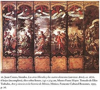 Juan Correa - Image: Los Cuatro Elementos Juan Correa