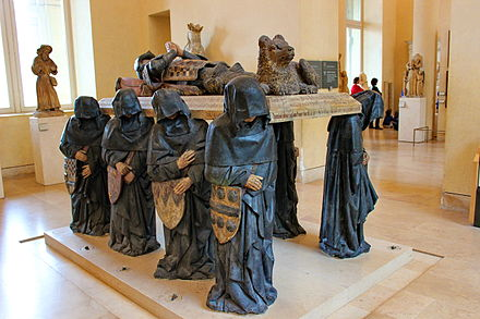Tomb of Philippe Pot, governor of Burgundy under Louis XI, by Antoine Le Moiturier Louvre Grab.JPG