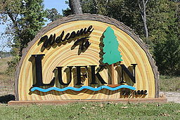 Lufkin welcome sign, Lufkin, TX IMG 3916.JPG