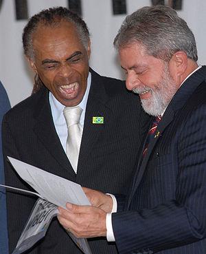 Gilberto Gil - Gil with former President of Brazil Luiz Inácio Lula da Silva