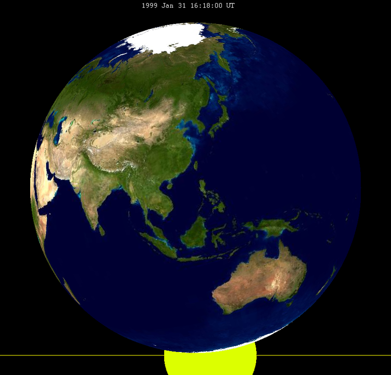 Lunar eclipse from moon-1999Jan31.png