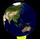 Lunar eclipse from moon-1999Jan31