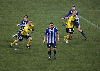 Kuopion Palloseura - KuPS vs HJK at Magnum Areena, Kuopio. Finnish League Cup, March 11, 2008.