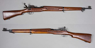 Sirius Dog Sled Patrol - M1917 Enfield rifle introduced during World War I