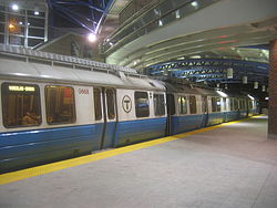 MBTA Blue Line train at Airport Station in 2005.jpg