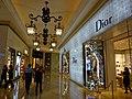 MC 澳門 Macau 路氹城 Cotai 四季名店 Shoppes at Four Seasons mall interior corridor ceiling lamps Nov 2016 Dior lighting wall.jpg