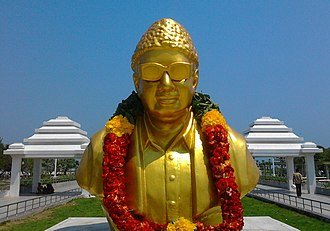 M. G. Ramachandran - MGR's statue at the MGR Memorial