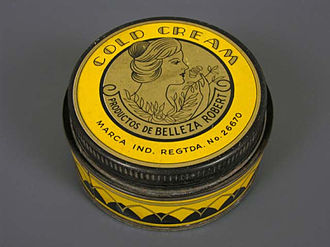 Cold cream - Jar for cold cream from the first half of the 20th century. From the Museo del Objeto del Objeto collection.