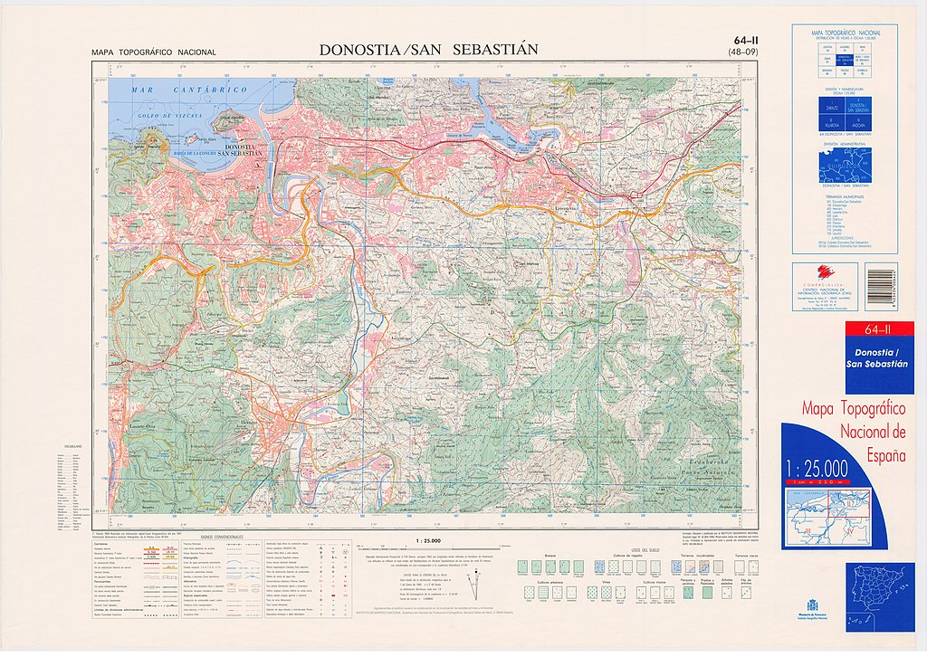 San Sebastian España Mapa.File Mtn25 0064c2 1999 Donostia San Sebastian Jpg