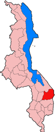 Location of Machinga District in Malawi