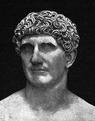 Battle of Actium - A Roman bust of the consul and triumvir Mark Antony, Vatican Museums