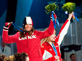 Maëlle Ricker celebrates gold medal.jpg