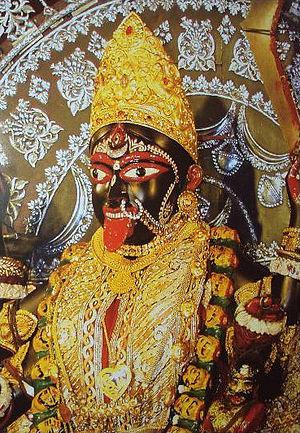 Swami Vivekananda's prayer to Kali at Dakshineswar - Idol of goddess Kali or Bhavatarini at Dakshineshwar