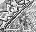 Maastricht, stadsmuur Herbenusstraat, detail kaart Larcher d'Aubencourt, 1749.jpg