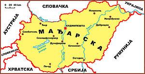 Srbija Madjarska Mapa Superjoden