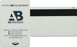 Keycard lock - A keycard with a magnetic stripe
