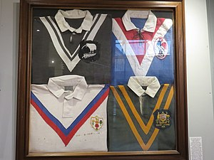 1954 Rugby League World Cup - Shirts of the teams in 1954.