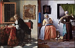 Man Writing Letter and Woman Reading Letter.jpg