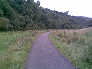 Leek and Manifold Valley Light Railway - A typical view - looking south along the route today, near Wetton