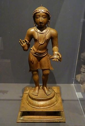 Manikkavacakar - Manikkavacakar, Chola bronze, 12th century India, at the Linden Museum, Stuttgart