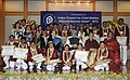Manmohan Singh with the National Bravery Awardee children, at a function, in New Delhi. Smt. Gursharan Kaur, the Chairperson, National Advisory Council.jpg