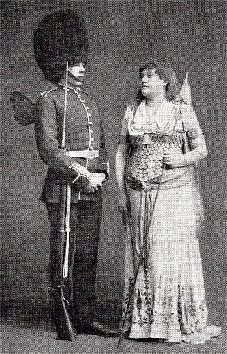 Charles Manners (bass) - Charles Manners and Alice Barnett in Iolanthe, 1882