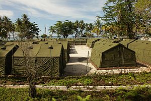 Asylum in Australia - Part of the Manus Island regional processing facility in October 2012